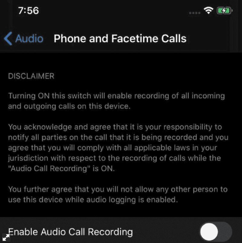 iPhone snimanje poziva i razgovora
