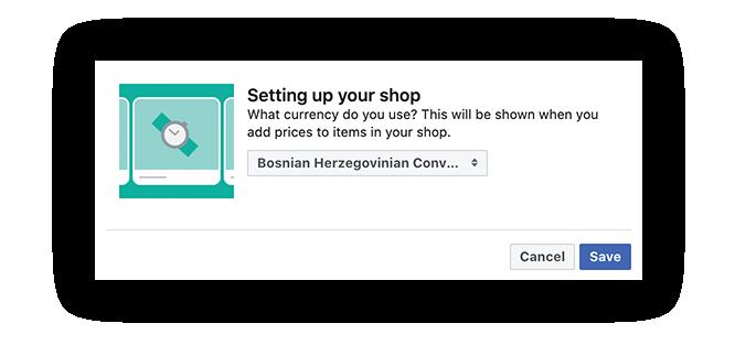 Facebook shop Bosna i Hercegovina